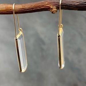 Anthropologie Cadence Linear Hoop Earrings